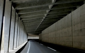 tunnel, Nagano Prefecture, road, Japan, concrete, infrastructure