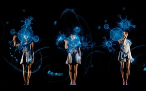 concerts, Asian, Perfume Band, science fiction, girl, hologram