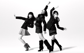 Perfume, monochrome, J, pop, Perfume Band, girl