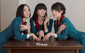 black hair, group of girl, girl, Perfume, J, pop