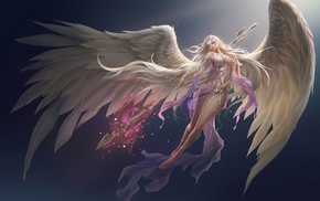 angel, demon, angel wings, anime girls, long hair, anime