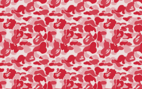 pink background, bathing ape