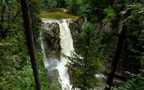 landscape, waterfall