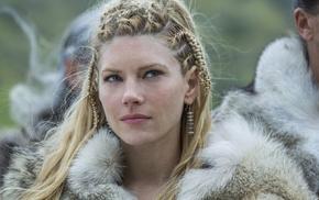 Katheryn Winnick, girl, face, Vikings, Lagertha Lothbrok, Vikings TV series
