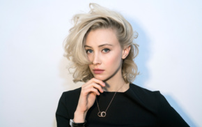 celebrity, Sarah Gadon, blonde, looking at viewer, actress, girl