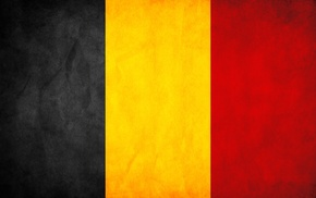 black, yellow, red, flag, Belgium