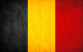 black, yellow, red, flag, Belgium