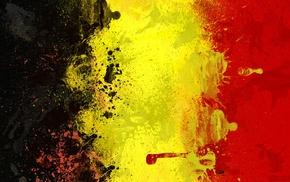 painting, flag, Belgium, yellow, black, red