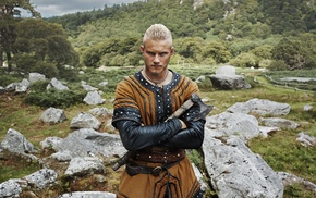 actor, Bjrn Ironside, Alexander Ludwig, men, TV, traditional clothing