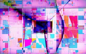 triangle, colorful, geometry, lines, abstract, square