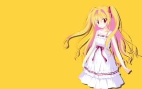 anime girls, long hair, anime, blonde, colorful