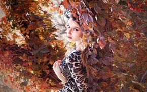 girl, model, girl outdoors