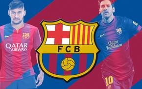 logo, Neymar, Lionel Messi, FC Barcelona