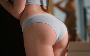 ass, blonde, thong, cotton panties, girl, underwear