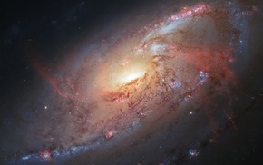 galaxy, universe, Messier 106, space