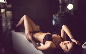 lingerie, girl, model