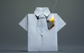 heart, paper, fire, shirt