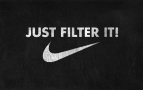 Just Do It., texture, Nike, dark