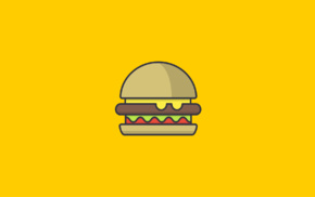 hamburgers, food, minimalism
