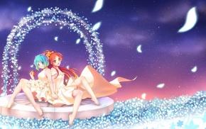 Miki Sayaka, anime girls, Sakura Kyouko, anime, Mahou Shoujo Madoka Magica