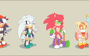 genderswap, Knuckles, Tails character, Sonic the Hedgehog, Shadow the Hedgehog, Sonic