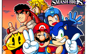 Street Fighter, Cloud Strife, Super Mario, Ryu Street Fighter, Super Smash Brothers, Final Fantasy