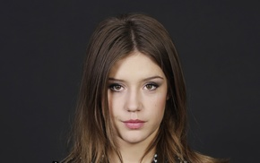looking at viewer, celebrity, brown eyes, Adele Exarchopoulos, actress, face