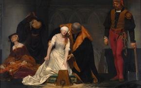 painting, Paul Delaroche, Le supplice de Jane Grey