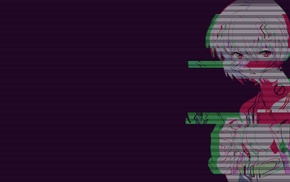 digital art, Neon Genesis Evangelion, vaporwave, Ayanami Rei, glitch art