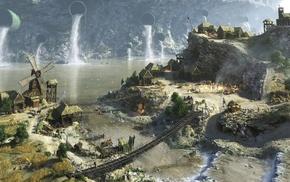 outskirts, city, fantasy art, village