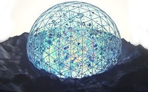 Photoshop, blue, sphere, Cinema 4D