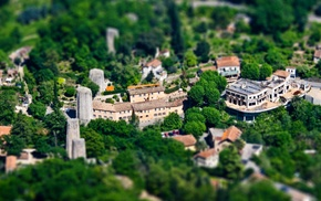 villages, village, architecture, tilt shift, landscape