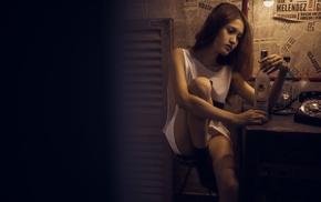white panties, girl, Asian, model