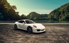 white cars, vehicle, car, Porsche