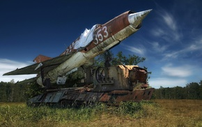 MiG, 21, wreck, vehicle, military