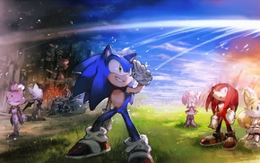 Tails character, Shadow the Hedgehog, Sonic, Knuckles, Sonic the Hedgehog