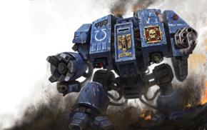 mech, Ultramarines, Dreadnought, Warhammer 40, 000
