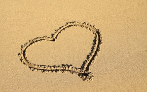 love, sand, shore, coast, romantic, romance