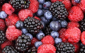 berries, raspberries, blackberries, fruit, blueberries, food