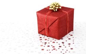 red, glitter, white, stars, presents, boxes