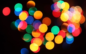 bokeh, colorful, blurred, lights, abstract, circle
