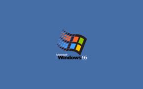 operating systems, Microsoft Windows, minimalism, Windows 95