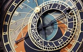 ancient, clocks, Prague, time, medieval, architecture