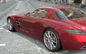 street, Mercedes, Benz SLS AMG, vehicle, car, Gran Turismo 5
