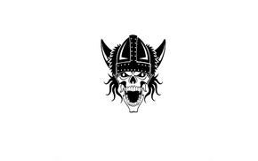 skull, creepy, minimalism, Vikings