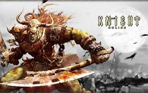 warrior, knight, Knight Online, orcs