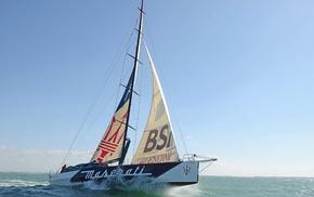 sky, water, sailboats