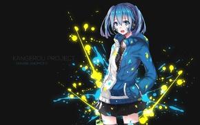 anime, Kagerou Project, blue hair, anime girls, skirt