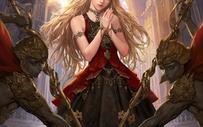 anime, armor, long hair, Legend of the Cryptids, weapon, anime girls