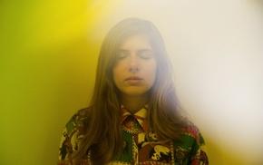 Laurel Halo, girl, closed eyes, musician